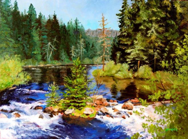 #62. Oil painting, Vermillion River, by Jeanne Marler - Copy